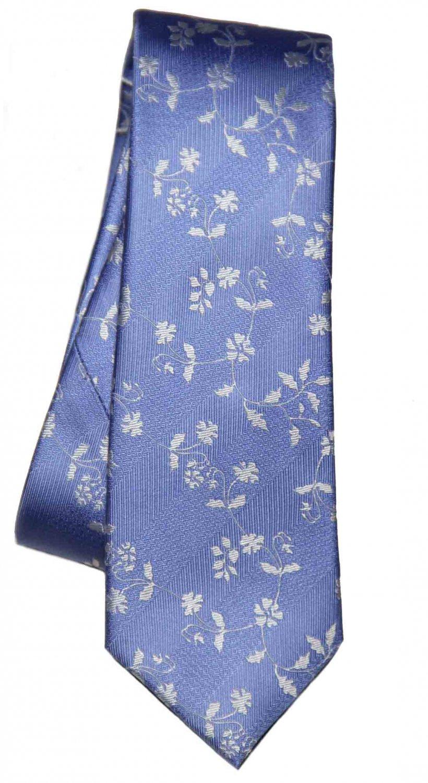 Tresanti Tie Silk Blue White Floral Men's Long