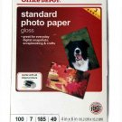 Office Depot Standard Photo Paper Gloass 4X6 Inkjet 100 Sheets