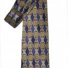 Vintage Parisian Signature Silk Tie Blue Gold Red Men's