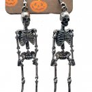 Primark Skeleton Dangle Earrings Metal Alloy Goth Halloween Women's