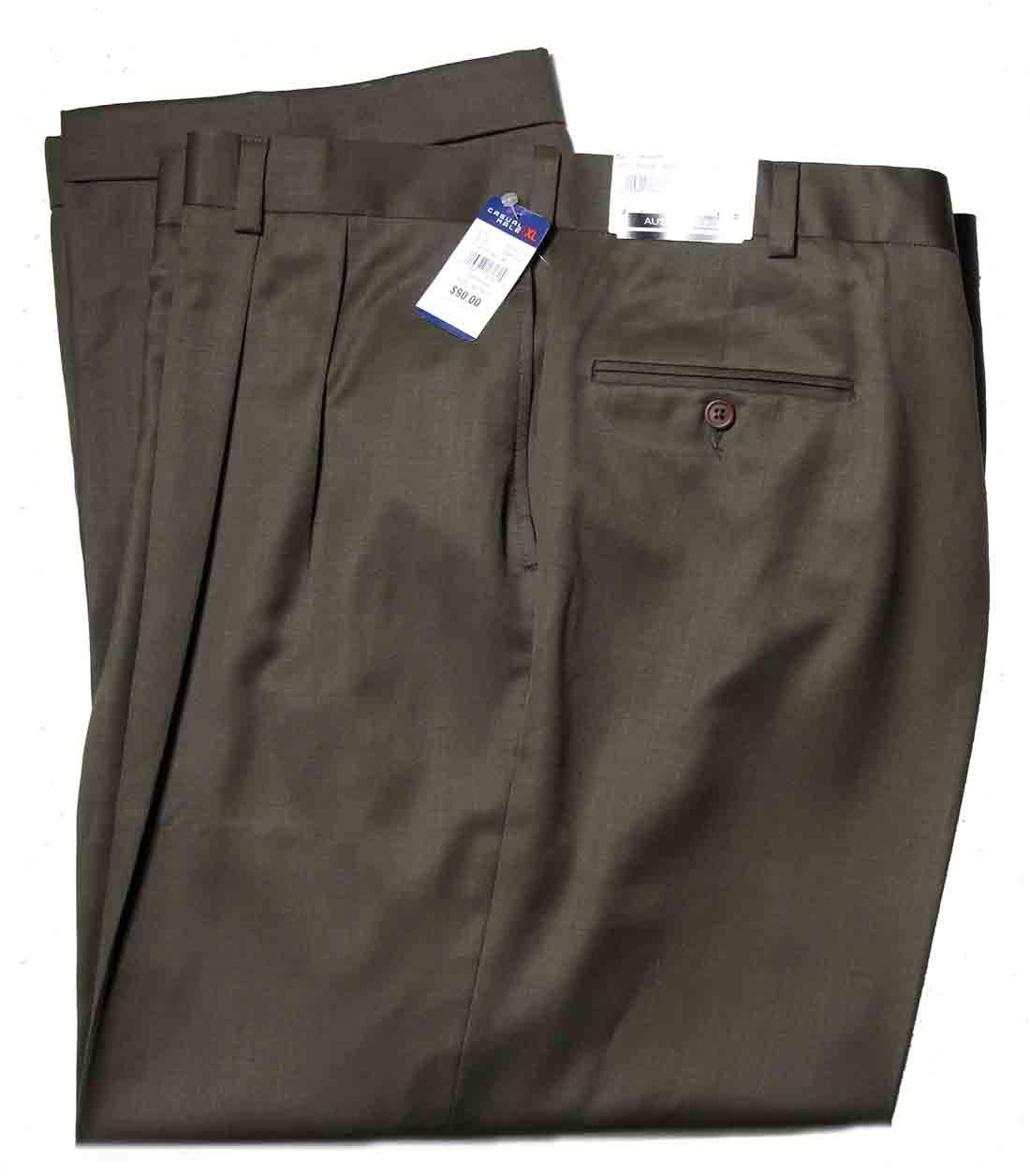 Austin Reed Dress Pants Pleated Brown Worsted Wool Men's Size 52 X 32