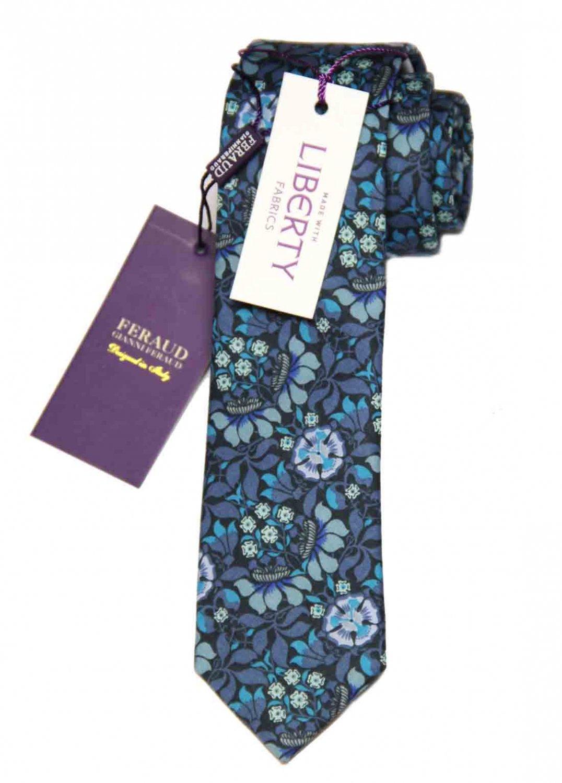 Feraud Liberty of London Fabric Tie Floral Multi-Color Persephone Men's Long