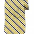 Brooks Brothers Tie Italian Silk and Nylon Striped Blue White Yellow Men's