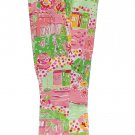 Lilly Pulitzer Cropped Pants Pink Green White Yellow Women's Size 8