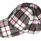 Do Everything In Love Plaid Cap Hat Red Black White Women's One Size