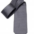 Christian Dior Tie Silk Gray Geometric Made in France Men's
