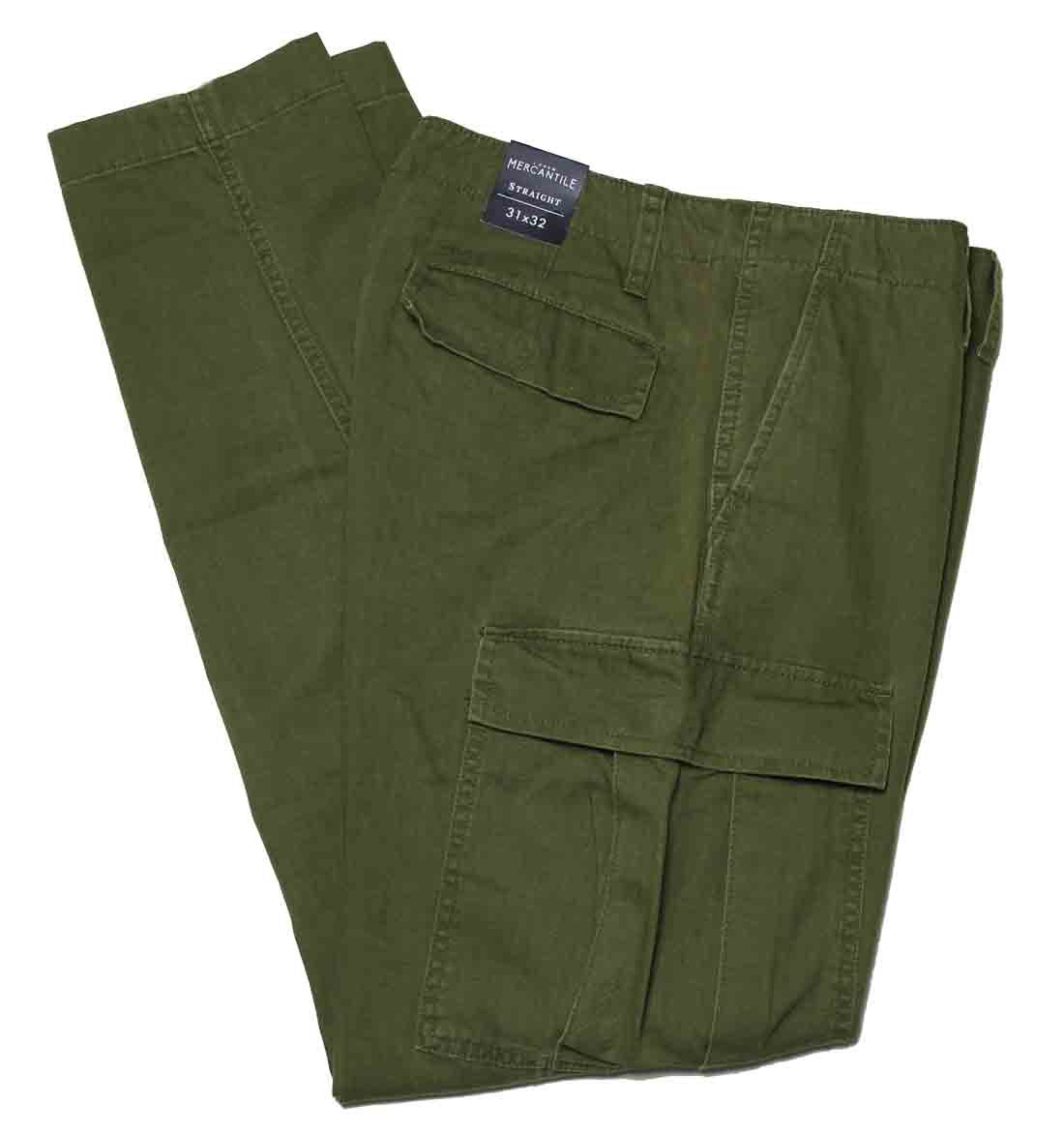 Men's J. Crew Cargo Pants Mercantile Straight Tapered Olive Green 31X32