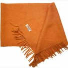 Vintage John Hanly & Co Irish Lambswool Scarf Orange 1970s Women's