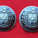 Two Men's Vintage Forecaster Coat Jacket or Blazer Buttons Pewter Gray Shank Shield Pattern