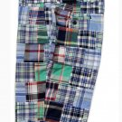 Brooks Brothers Authentic Indian Madras Shorts Multi-color Plaid Patchwork Flat Front Men's Size 32