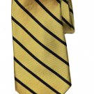 Vintage Jos A Bank Tie Silk Yellow Navy Blue Striped Men's Long