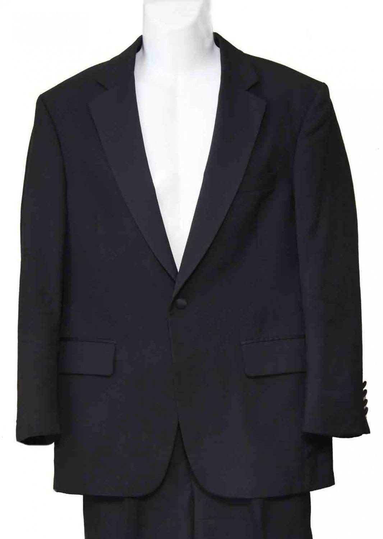 Jos A Bank Tuxedo Black Wool Men's 39R