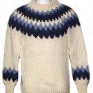 Danspun Denmark Handknitted Wool Sweater Pullover Women's Size Medium