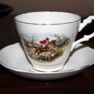 Royal Stewart Fox Hunt Cup and Saucer Fine Bone China Made in England