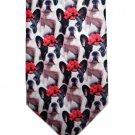 Ho Ho Ho Christmas Holiday Tie French Bulldog in Bow Men's