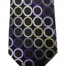 Michael Kors Silk Tie Black Green Purple Pink Circles Men's