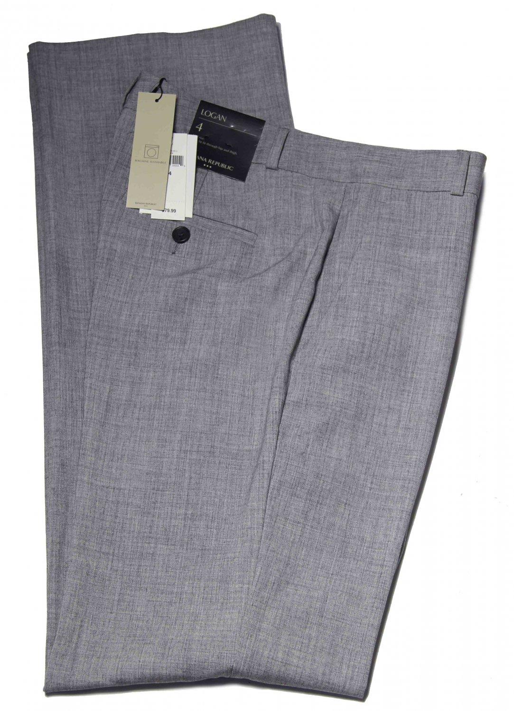 Banana Republic Logan Dress Pants Gray Flat Front Women's Size 4