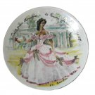 Vintage D'Arceau Limoges Scarlett O'Hara Porcelain Plate 1976 Gone With the Wind