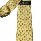 Ralph Lauren Tie Silk Cocktails Pattern Yellow Men's