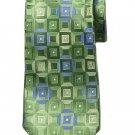 Michael Kors Silk Tie Green Blue White Geometric Pattern Men's