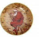 Gorham Norman Rockwell Santa Plans His Visit Plate 1981