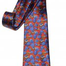 Kieselstein Cord Italian Silk Tie Buttons Pattern Red Blue Breown Gold Men's
