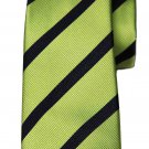 Zara Tie Green Navy Blue Striped Silk Narrow Men's
