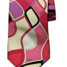 Vintage Emilio Pucci Tie Italian Silk Mod Abstract Men's Long