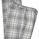 Nike Golf Pants Gray White Plaid Men's Size 34 X 30