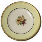 Rare Vintage Morgan Belleek Plate Salad Dessert Floral Gold Rim