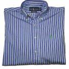 Ralph Lauren Dress Shirt Striped Custom Fit Men's Size 16 X 34/35