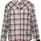 G-Star Plaid Western Shirt Plaid Men's Size Slim Medium