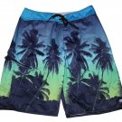 Hurley Board Shorts Swim Trunks Palm Trees Men's Size 32