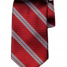 Brooks Brothers Italian Silk Tie Red White Blue Striped Men's