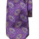 Robert Talbott Silk Tie Purple Orange Blue Geometric Men's Long