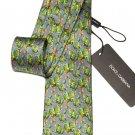 Dolce & Gabbana Tie Silk Cactus Pattern Men's