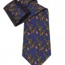 Vintage Liberty of London Tie Silk Blue Brown Green Monkeys Palm Trees Men's