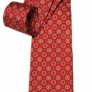 Brooks Brothers Italian Silk Tie Red Yellow Blue Geometric Men's Long