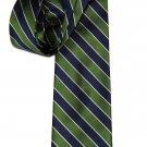 J Crew Tie Silk Navy Blue Green White Striped Men's