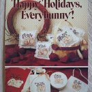 Happy Holidays Everybunny Cross Stitch Bunnies Pattern