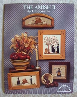 The Amish II Apple Tree Boy & Girl Cross Stitch Pattern Booklet