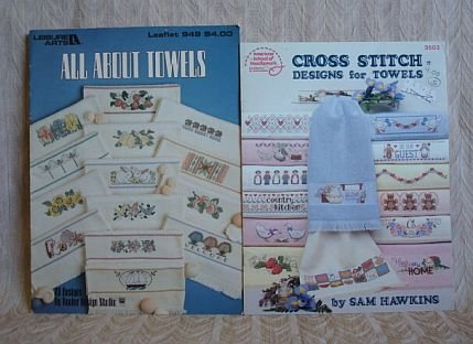 2 All About Towels Cross Stitch Designs For Towels Booklets
