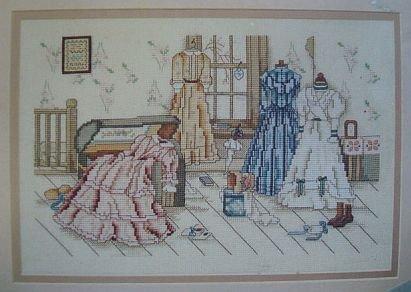 In The Garret Victorian Cross Stitch Pattern Leaflet #885