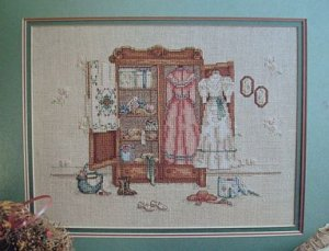 A Cameo Of The Past Victorian Cross Stitch Pattern Leaflet