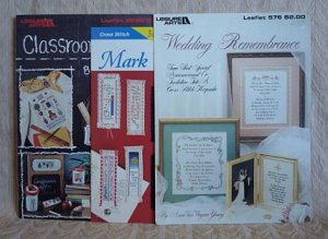 Classroom Classics, Mark Your Place & Wedding Remembrance Cross Stitch Pattern Leaflets