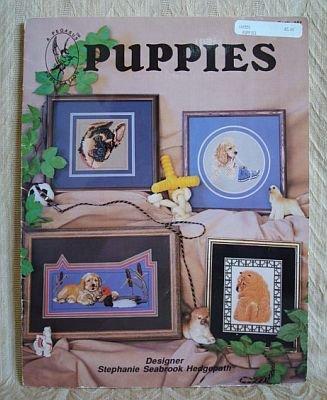 Puppies Cross Stitch Patterns Booklet