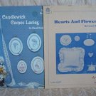 2 Candlewicking Leaflets Cameo Lacies & Hearts And Flowers