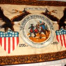 FOLK ART: AMERICAN BICENTENNIAL CELEBRATION TEXTILE WALL HANGING