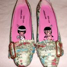IRREGULAR CHOICE ORIENTAL DESIGNED PINK BALLERINA STYLED SHOES, Size 36