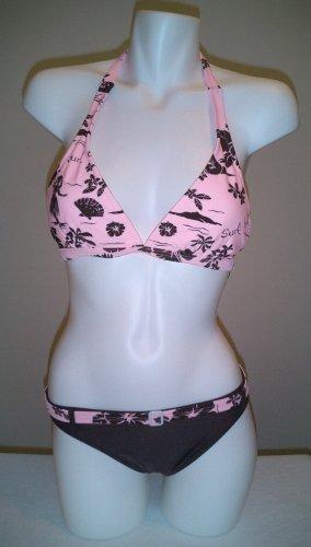 Pink and Brown Island Bikini